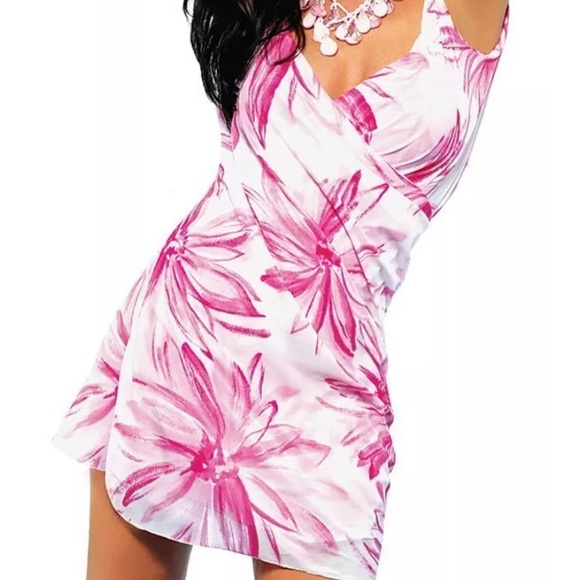 21e33d6d28 saress Swim | Pink And White Cover Up Size M | Poshmark